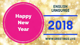 English special Greetings 2018  Sparkling
