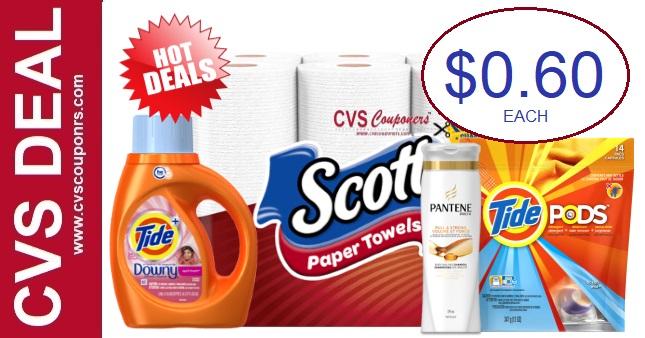 Cheap CVS Deals on Scott, Pantene & Tide