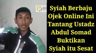 Tercyduk! Penantang Ustadz Abdul Somad Berbaju Ojek Online Itu Akhirnya Minta Maaf