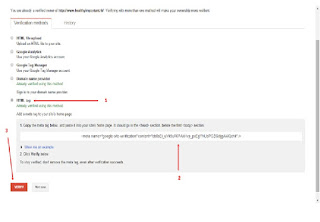 Metode Verification Webmaster Google