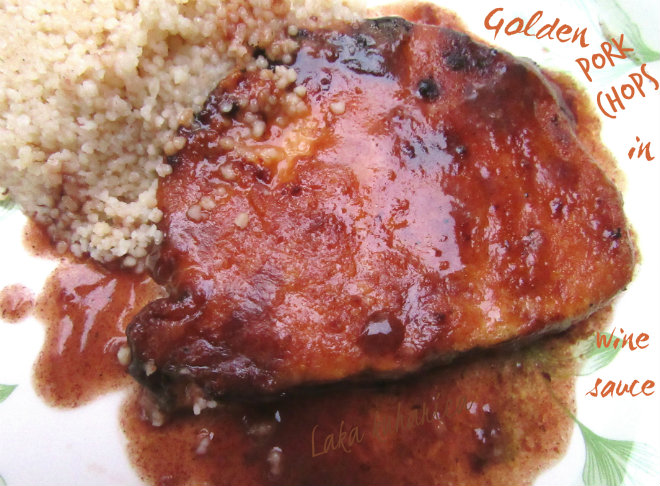 Golden pork chops in wine sauce by Laka kuharica: a simple and delicious way to cook pork chops..