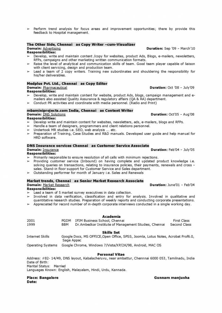 marketing communications manager resume with international