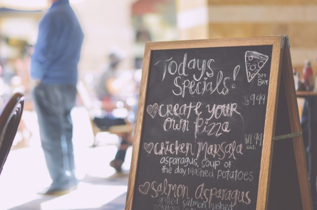 menu di papan