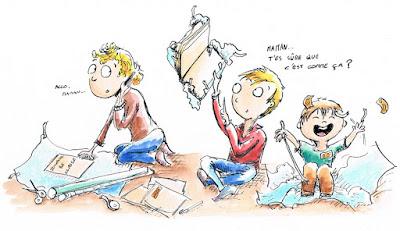 """'rentrée scolaire"""" illustration jeunesse children recouvrir les cahiers"""