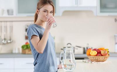 Uống thêm nhiều nước giảm mỡ bụng