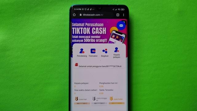 aplikasi tiktok cash