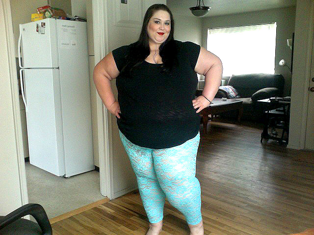 Sexy bbw in leggings