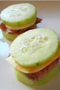 Meat and Cheese Cucumber Sandwhiches