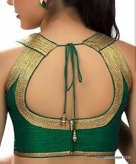 simple blouse back neck designs images