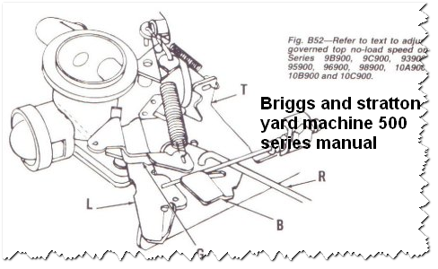 Free Service Repair Manual: Briggs and stratton yard