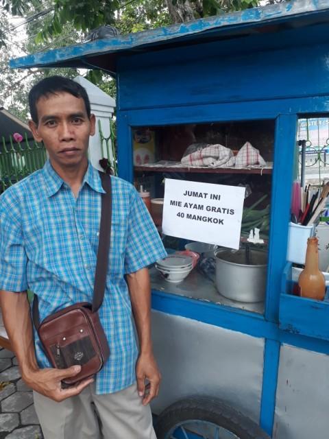 Viral Mie Ayam di Yogyakarta Diborong, Gratis untuk Jamaah Salat Jumat
