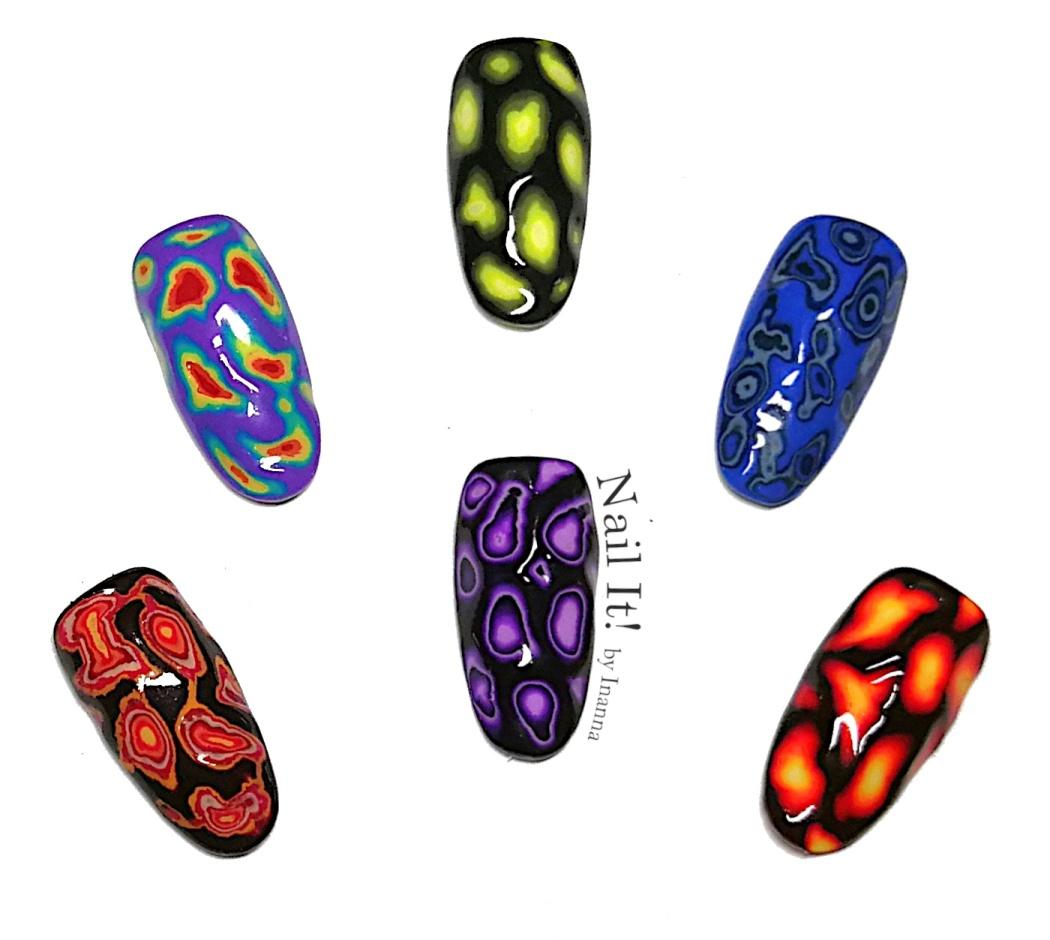 3D Drill Nail Art - 6 nail art examples