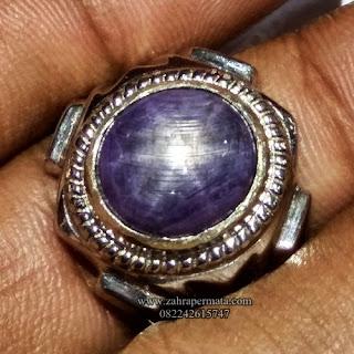 Cincin Batu Permata Saphire Star - ZP 1127