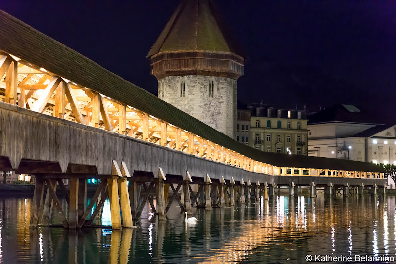 Chapel Bridge Water Tower Two Days in Lucerne Luzern Switzerland