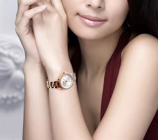 Jam Tangan wanita Tali Rantai Skmei