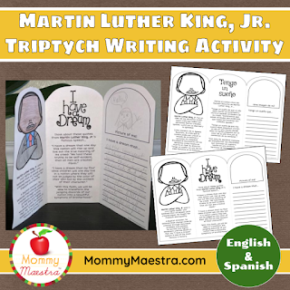 Martin Luther King Jr. Writing Triptych Activity