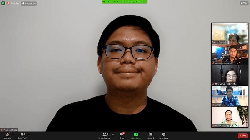 Zoom call screenshot