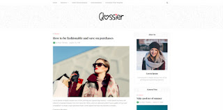 glossier blogger template