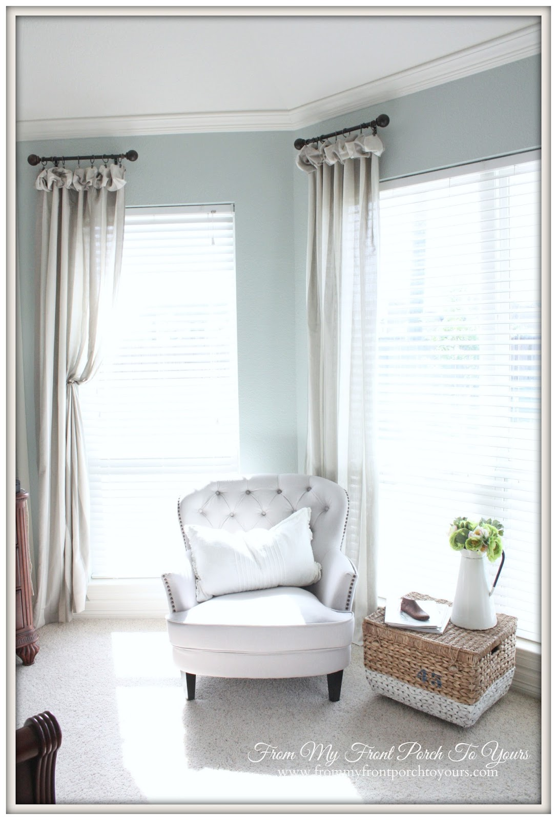 From My Front Porch To Yours- Bedroom Reading Nook