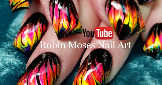 Neon Water Marble Nails without the water! Cool Dry Drag Marble Nail Art Technique!