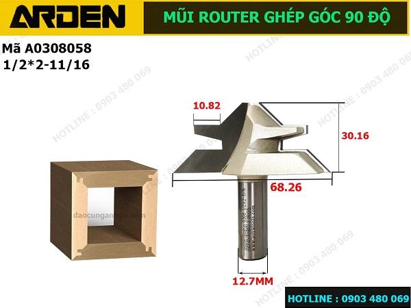 Mũi Router ghép góc 90 độ ARDEN A0308058