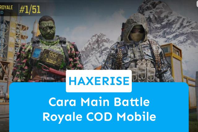 cara main battle royale cod mobile