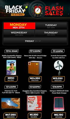 Jumia Black Friday Festival Day 16 Deals 28th November 2017