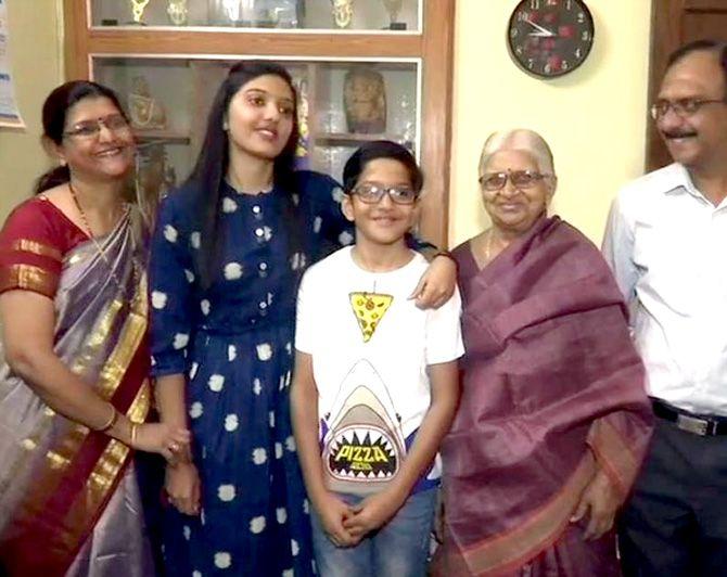 Srushti Jayant Deshmukh IAS Family PIC