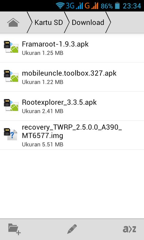 Cara Root dan Instal TWRP Lenovo A390 Tanpa Pc - Utak-Atik Android