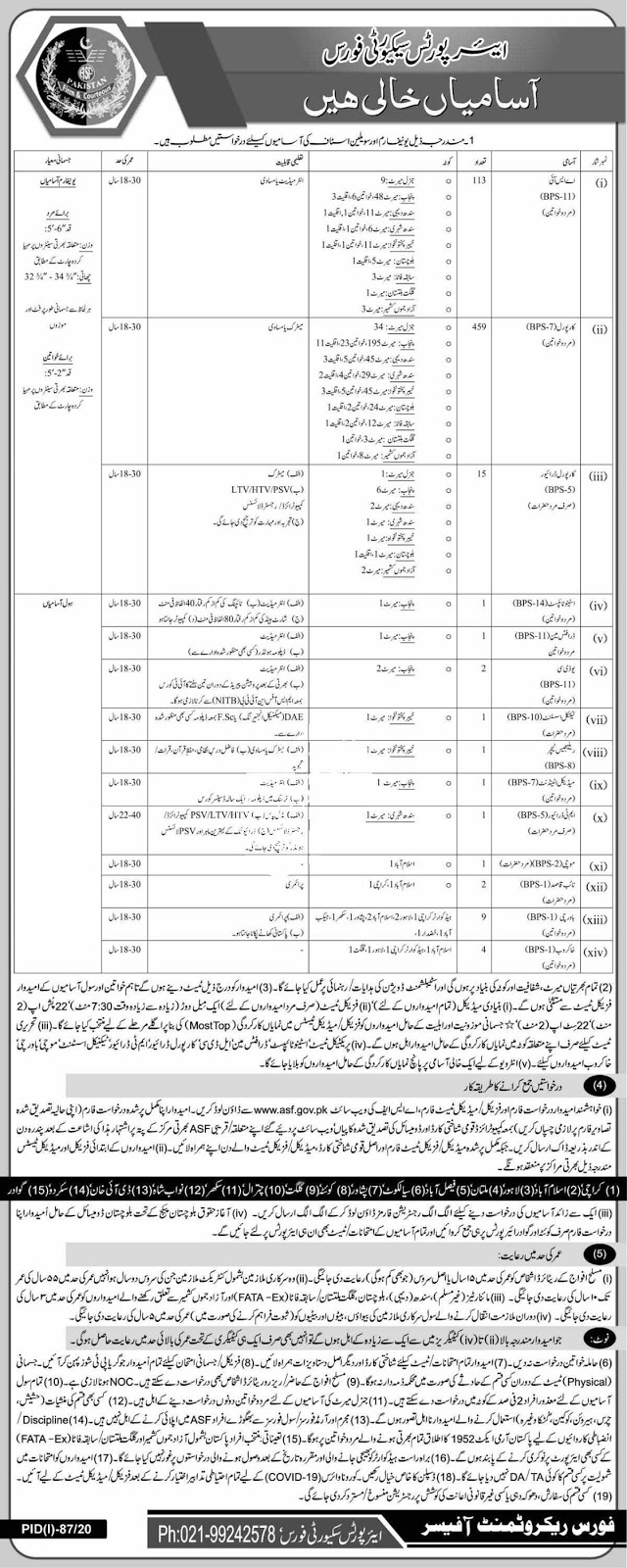 Jobs in Airport Security Force ASF July 22020