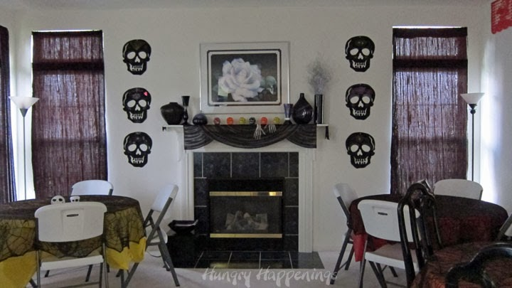 Day of the dead party fun decorating ideas for dia de - Leave you dead in the living room ...