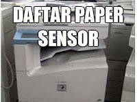 Daftar paper sensor Canon IR 3300 series.