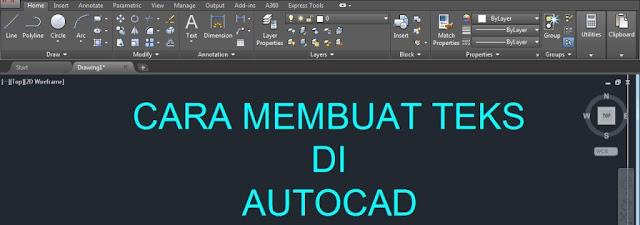Cara Membuat Teks Di Autocad