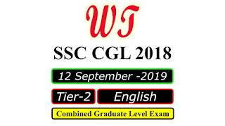SSC CGL 2018 Tier 2 English 12 Sep 2019 Paper PDF