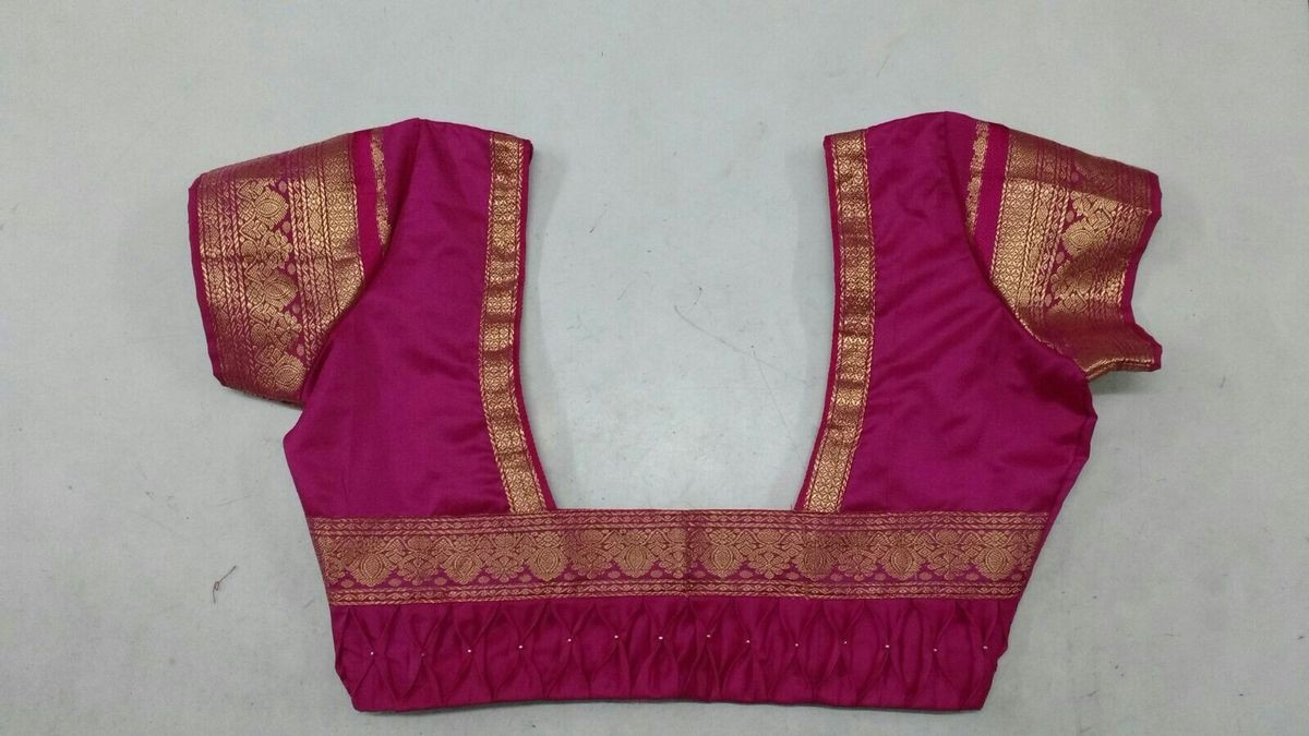 Traditional Silk Saree Blouse Back Neck Designs With Borders 35 Traditional Blouse Back Neck Designs For Silk Sarees Bling Sparkle Blouses Discover The Latest Best Selling Shop Women S Shirts High Quality