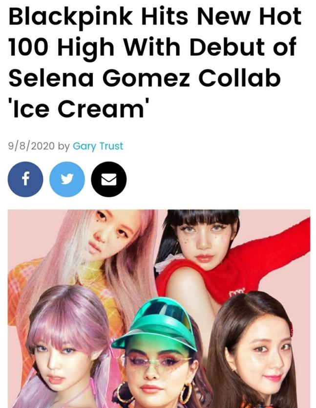 Black Pink, Billboard Hot 100 listesinde 13 numara oldu