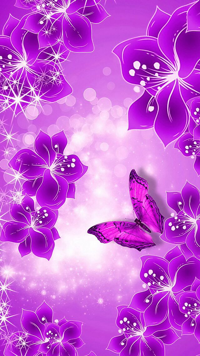 purple butterfly iphone wallpaper