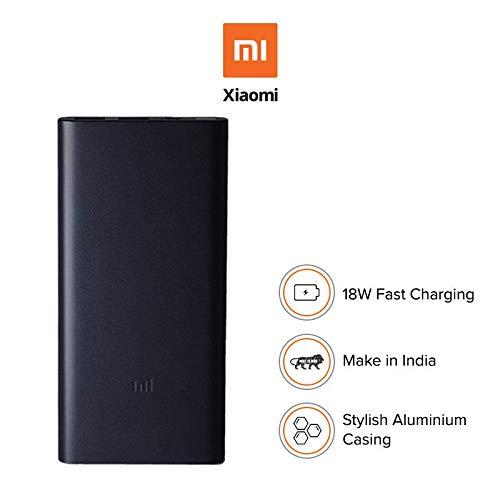 Mi 10000mAH Li-Polymer Power Bank 2i Black with 18W Fast Charging