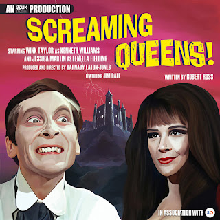 Painted portraits of Kenneth Williams and Fenella Fielding