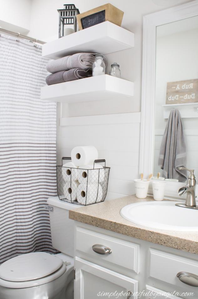 Simply Beautiful Bathrooms: Neutral Kids Bathroom Makeover