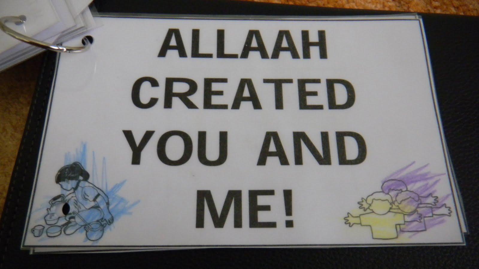 Ummisubhana Book 3 Allah Created Me Islamic