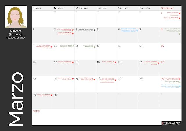 Calendario Excepcionales Marzo 2020