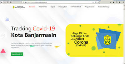 Inilah Situs Resmi Tracking Covid-19 dari Pemko Banjarmasin