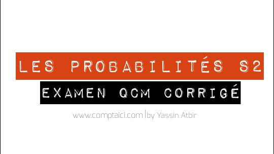 QCM corrigé des Probabilités S2 En PDF