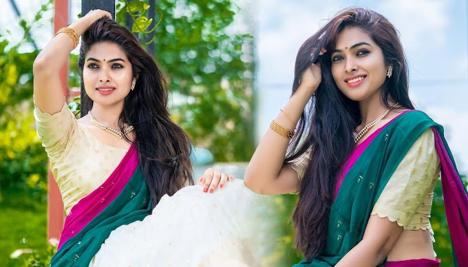 Divi Vadthya Photos Stills In Colour Bridal Lehenga