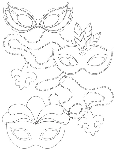 mardi gras color pages - southern mom loves mardi gras adult and kid coloring pages