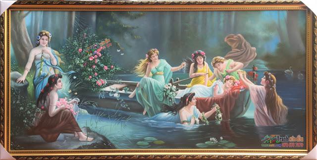 Tranh sơn dầu vẽ bát tiên