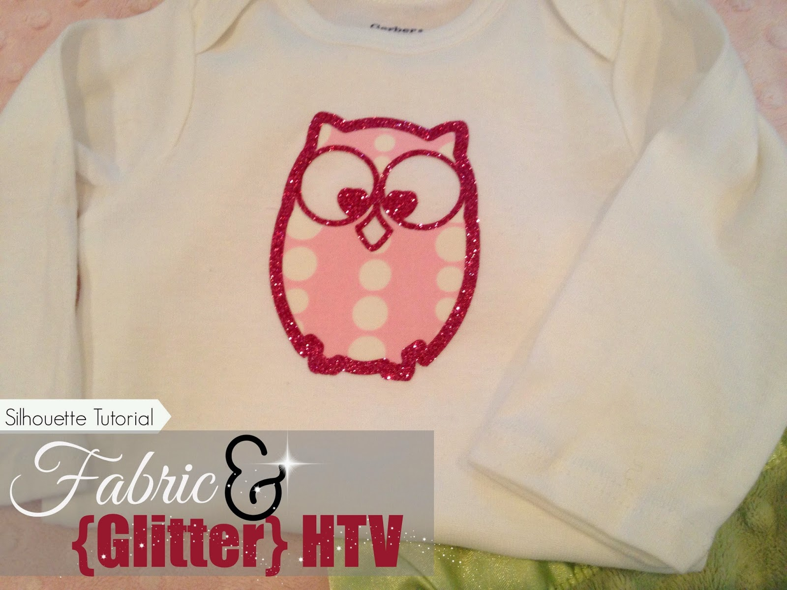 Fabric And Glitter Htv Silhouette Tutorial Silhouette