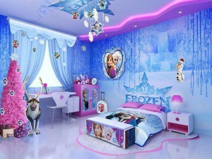 Contoh Cat Kamar Tidur Frozen