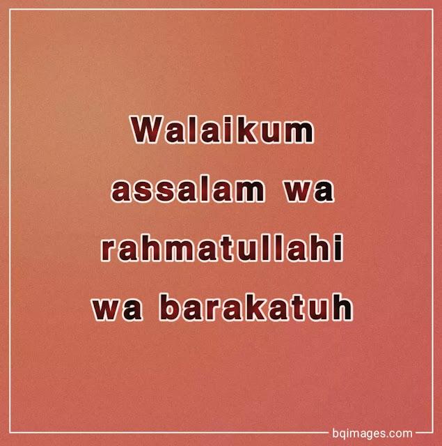 walaikum assalam images in english